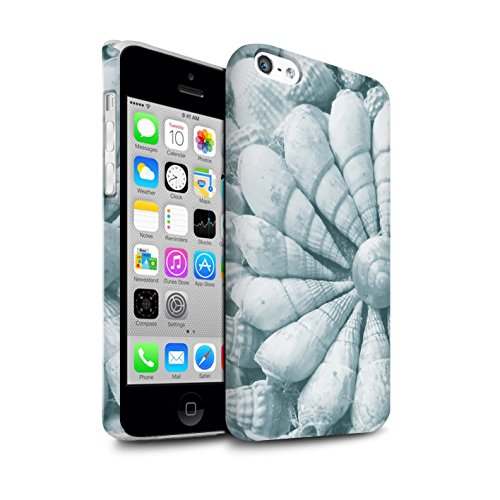 STUFF4 Matte Snap-On Hülle / Case für Apple iPhone 5C / Martini-Glas/Alkohol Muster / Teal Mode Kollektion Strand Schalen