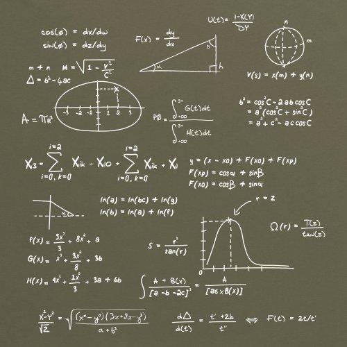Math T-Shirt, Herren Olivgrn
