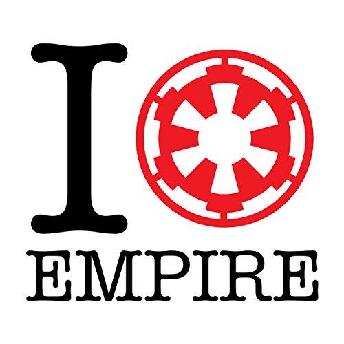 Star Wars Rogue One I Heart Empire Men's Baseball Long Sleeved T-Shirt White/Red