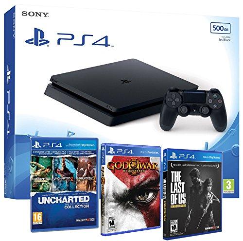 Sony tabz4 Slim 500Gb Slim 500Gb - MEGAPACK 5 Juegos OFERTA - PEGI 16 (De Juegos Fifa)