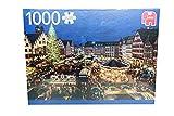 Jumbo Spiele 18553 - Puzzle Weihnachtsmarkt in Frankfurt, Deutschland, 1000 Teile