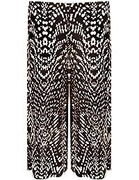 Femmes À Élastique Années 70 Jambe Large Pantalon Longueur Genou Palazzo Tailles 36-58