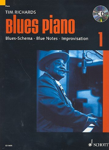 +CD) mit Bleistift - Blues-Schema - Blue Notes - Improvisation - das technische Rüstzeug für den angehenden Blues-Pianisten, von Tim Richards (Noten/sheet music) ()