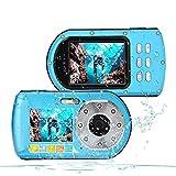 CamKing wasserdichte Kamera HD 1080P 24 MP 16X Zoom Unterwasser Digitalkamera, Selfie Dual Display 2.7 und 2.0 Zoll Bildschirm DV Aufnahme 33ft wasserdichte Action Digitalkamera