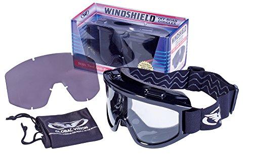Global Vision Eyewear Wind Shield anti-buée Lunettes de sécurité kit clair, objectif