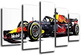 Cuadros Camara Tableau Moderne Photographique, Impression sur Bois, Voiture de Formule 1, Red Bull RB14, Red Bull F1 2018, Daniel Ricciardo, Max Verstappen, 165 x 62 cm, ref. 27112