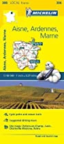 Aisne, Ardennes, Marne - Michelin Local Map 306