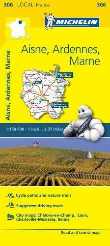 Aisne, Ardennes, Marne - Michelin Local Map 306 (Michelin Map)