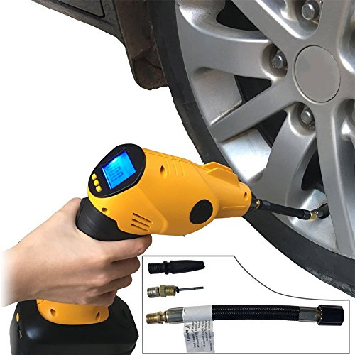 Inflador de neumáticos inalámbrico digital