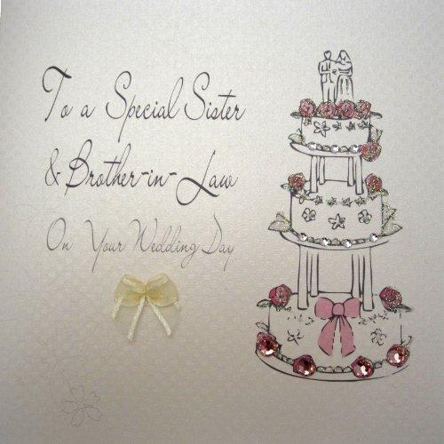 WHITE COTTON CARDS BD26 Glückwunschkarte zur Hochzeit, für Schwester und Schwager, englischsprachig