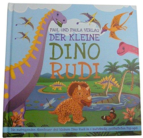 """Pop Up Kinder-Buch, Bilder-Buch, Lese-Buch """"Der kleine Dino Rudi"""", tolle Vorlese-Geschichten, Abenteur-Geschichten für Kinder, Jungen und Mädchen"""