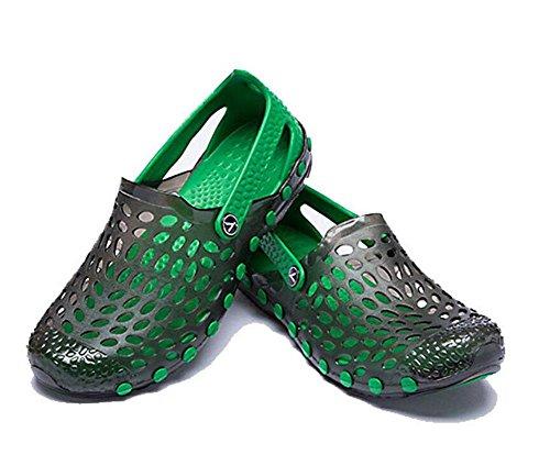 GLTER Uomini Mocassini Scarpe Sandali Respirabili 2017 Estate Calzature Casual Grandi Scarpe Di Grandi Dimensioni Clogs black green