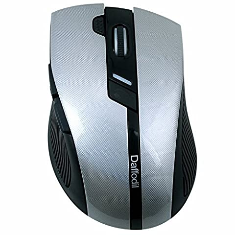 Wireless Gaming and Office Mouse - Daffodil WMS615 - Dual Mode 6 Button Mouse with Adjustable DPI, Screen Blank and Double Click