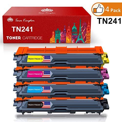 Toner Kingdom 4 Pack TN-241 TN-245 Cartouche d'encre Compatible Pour Brother DCP-9020CDW HL-3140CW HL-3150CDW HL-3170CDW MFC-9140CDN MFC-9330CDW MFC-9340CDW Imprimante