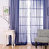 Mikolot Sitting Room Balcony Cafe Gauze Shade Curtain (Blue)