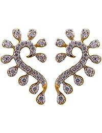 Joyalukkas 18k Yellow Gold and Diamond Stud Earrings