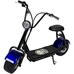 OchOOs Patinete e-Scooter City Vespa Mini C.C. Patín electrico City 800W Litio 48V/12aH tipo moto. (Azul)