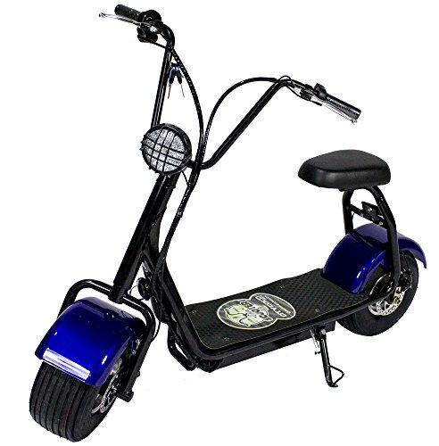 OchOOs Patinete e-Scooter City Vespa Mini C.C. Patín electrico City 800W Litio 48V/12aH tipo moto. (Azul)