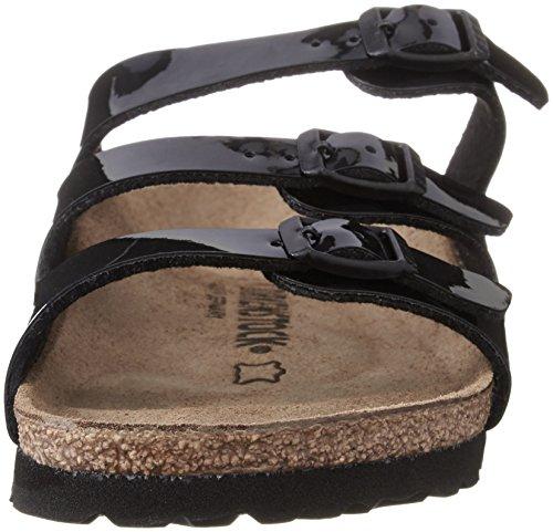 Birkenstock Florida , Chaussures femme Noir (Birko-Flor Vernis Noir)