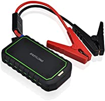 Patuoxun Avviatore di Emergenza per Auto Professionale Caricabatterie Portatile Esterno con 400A Peak Current Car Jump Starter with Power Bank, con Protezione di Sicurezza e LED Flashlight