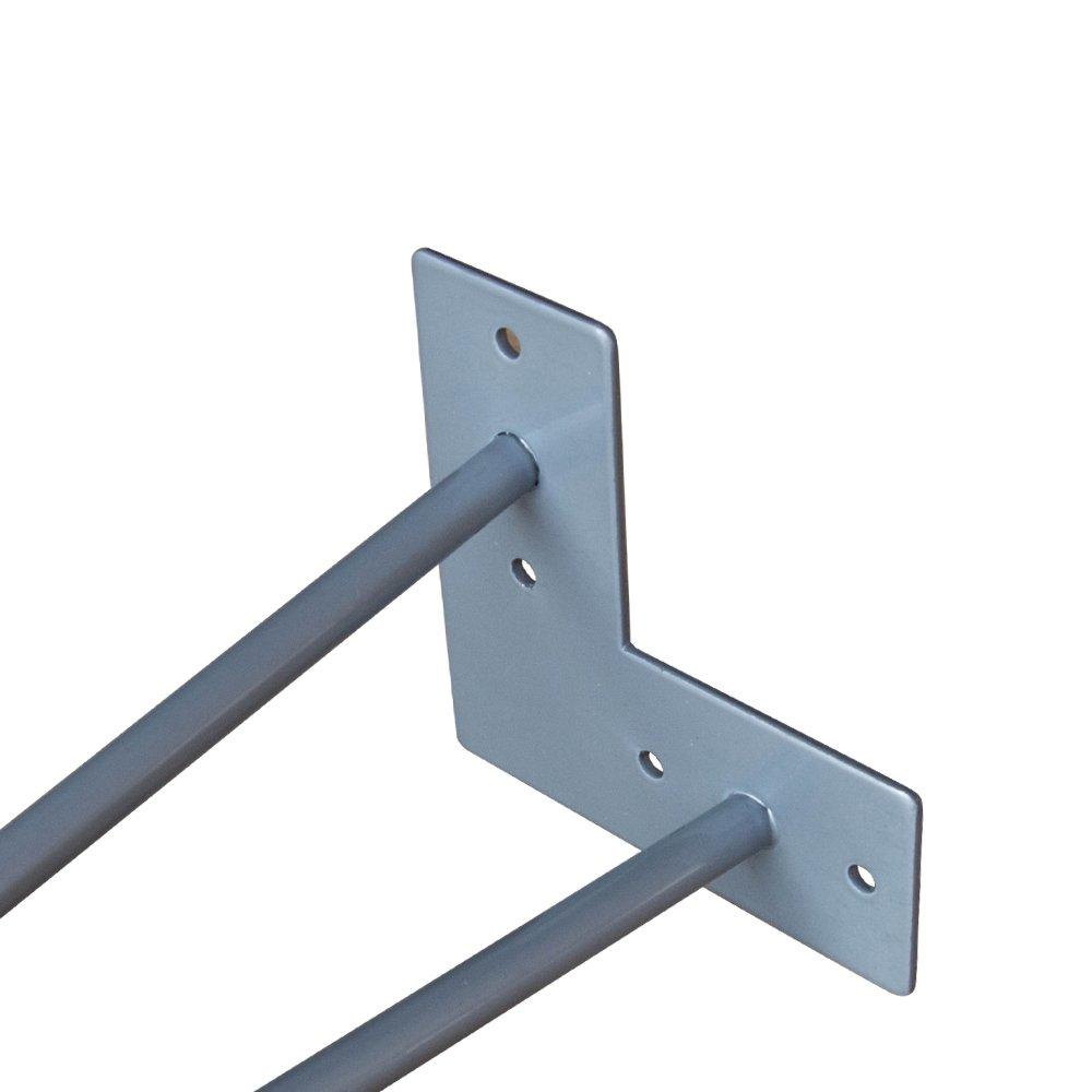 Hengmei 4x41cm Two Rod Forcina Gambe Piedini Da Tavolo A Forcina Mobili Fai Da Te Metallo Gambe Tornanti Sostitutive Piedini Per Tavolino Tavolo Da