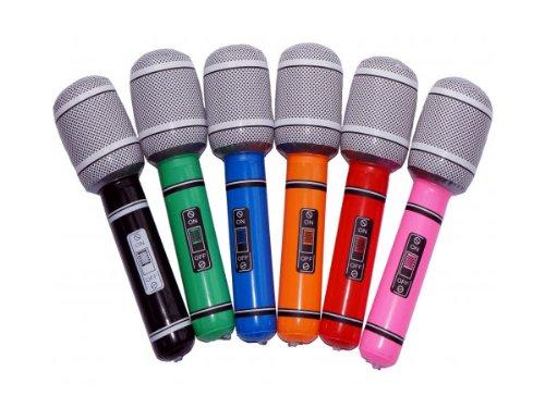 Aufblasbare Mikrofone (Ein aufblasbares Mikrofon ca. 24 cm)