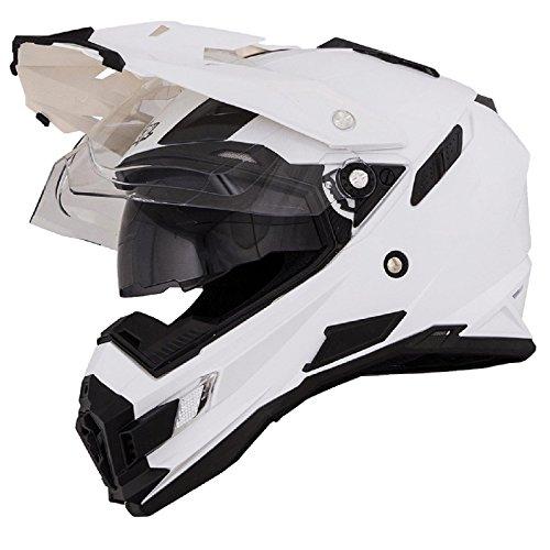 O'Neal Sierra Snow Weiß Motorrad Helm Enduro Moto Cross Dual Sport, 0816-20, Größe Small (55 - 56 cm)