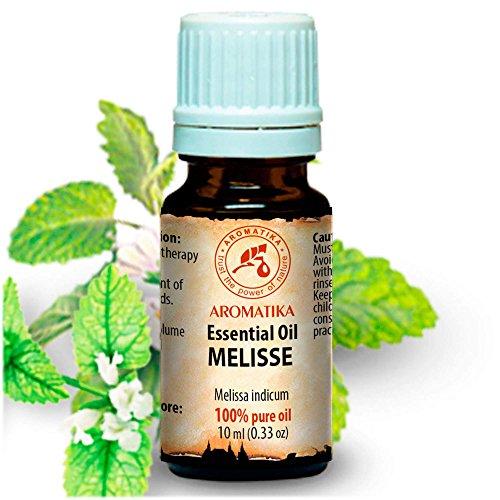 Melisse Öl 10ml - Mellissa Indicum - Indien - 100% Reine & Natürliche Melissen Öl - Melissenöl für Guten Schlaf - Stressabbau - für Rumduft - Aromatherapie - Spa - Aroma Diffuser - Duftlampe