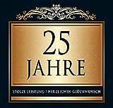 Udo Schmidt Aufkleber Flaschenetikett Etikett 25 Jahre Jubiläum gold elegant