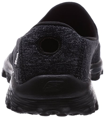 Skechers GO Walk 2 Super Sock Damen Walkingschuhe Schwarz (Bbk)