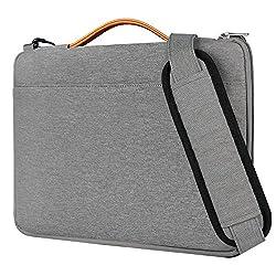 Inateck 15,6 Zoll Laptop Schultertasche, Wasserdichte Und Verschleißfeste Laptop Hülle Für 15-15,6 Zoll Laptops, Notebooks, Ultrabooks, Grau