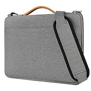 Borsa a tracolla per computer laptop di Inateck da 15 pollici stile messenger bag, grigia . La custodia ideale resistente ai liquidi per portare sempre con voi portatile , notebook, e Ultrabook