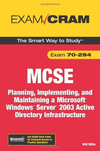 MCSA/MCSE 70-294 Exam Cram: Planning, Implementing, and Maintaining a Microsoft Windows Server 2003 Active Directory Infrastructure (2nd Edition) by Will Willis (2006-09-28) par Will Willis;David Watts