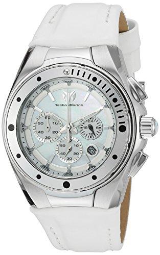TechnoMarine TM-215033 - Reloj de cuarzo para mujeres, color blanco