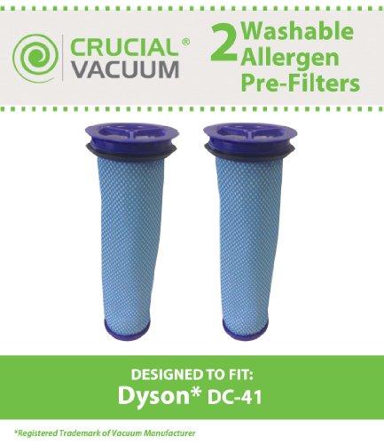 1Dyson DC41Ersatz Waschbar Wiederverwendbar Allergen Vorfilter passend für Dyson 41Animal aufrecht Leerstellen; Vergleichen zu Dyson Teil # 920640–01, 92064001; Entworfen und Hergestellt von Crucial Vacuum