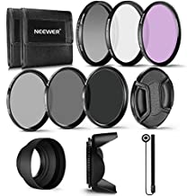 Neewer 67MM Profesional UV CPL FLD-Lente Filtro y ND Filtro de Densidad Neutra (ND2, ND4, ND8) Kit de accesorios para cámaras DSLR  Nikon (D5200 D7000 D7100 D90)