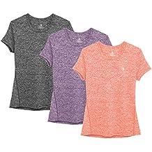 5c5a5ea863311 icyzone Camiseta de Fitness Deportiva de Manga Corta para Mujer