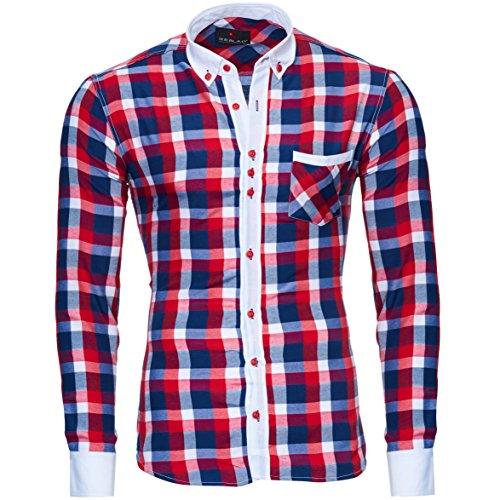 Reslad - Chemise casual - Homme Rouge - Rouge