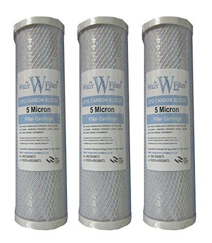 The Water Filter Men 3 x Cartucho Bloque carbón 10