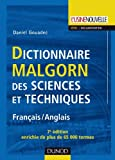 Telecharger Livres Dictionnaire Malgorn des sciences et techniques 7eme edition Francais Anglais (PDF,EPUB,MOBI) gratuits en Francaise