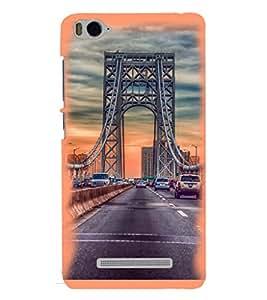 Printvisa Suspension Bridge Traffic Pic Back Case Cover for Xiaomi Redmi MI 4C::Xiaomi Mi 4C