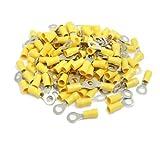 200 Stück RV5. 5-6 AWG 12-10 gelb Sleeve Pre Isolierte Ringöse Stecker
