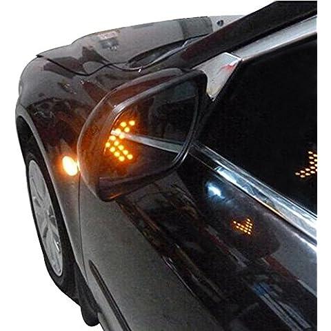Artans £ ¨ TM) 1paio ambra freccia pannello 14SMD LED auto luce LED Turn Signal (Ambra Specchio)