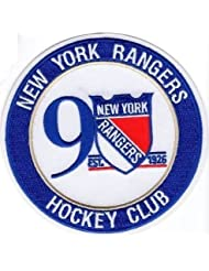 NEW YORK RANGERS PATCH 90TH ANNIVERSARY 2016-17 SEASON JERSEY ROUND NHL STYLE by National Hockey League