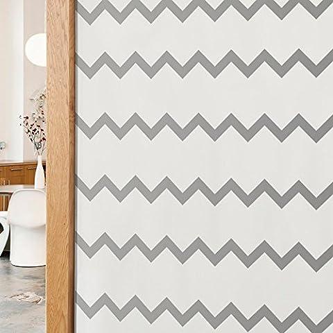 Vinilo con forma geométrica zig-zag. Color gris. Medidas: 110x55cm