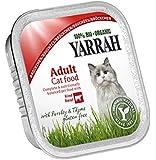Yarrah Bröckchen Rind 100g Bio Katzenfutter, 16er Pack (16 x 0.1 kg)
