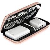 ACOCOBUY Antiurto Carry Case, iPhone Dura Eva Protettivo Resistente agli Urti Cover Power Bank Sacchetto Sacchetto Portatile USB Cavo organizzatore Tasca Accessori Auricolari a Manica in - Rose Gold