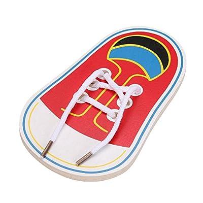 SODIAL enfants portent des lacets lacets fils enfants educatifs jouets educatifs Jouets en bois jouets de soins de la petite enfance