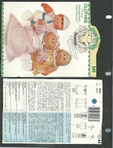 vintage-butterick-6980-345-sewing-pattern-cabbage-patch-kids-preemie-clothes-by-butterick
