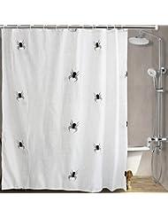 D G F Cortina de ducha de poliéster Baño creativo Cortina de ducha impermeable de araña 180cm * 200cm
